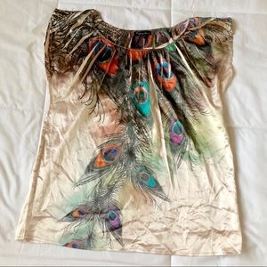 Silky feather blouse🦋